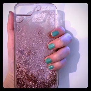 Pink liquid phone case